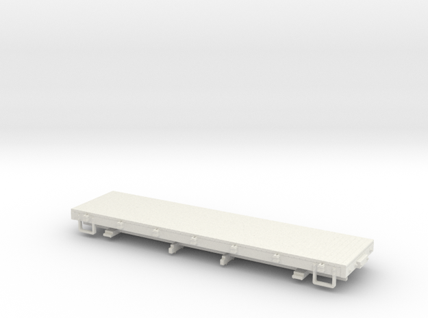 Sn3 28ft flat car  in White Strong & Flexible