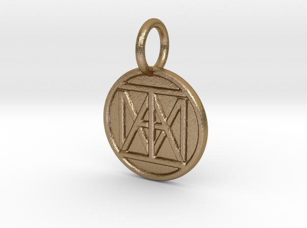 "United ""I AM"" Creator Keychain in Polished Gold Steel"