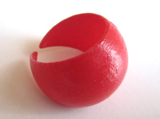 Sphere Ring v1 in Red Strong & Flexible Polished