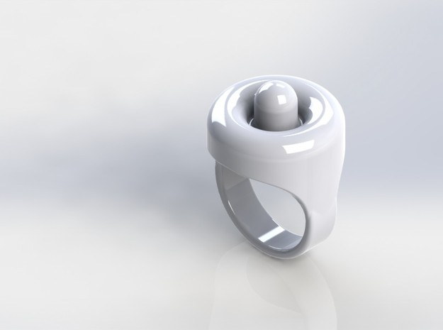 CR Teaser Ring in White Strong & Flexible Polished
