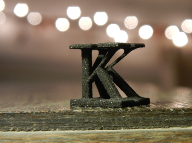 Two way letter / initial K&K in White Natural Versatile Plastic