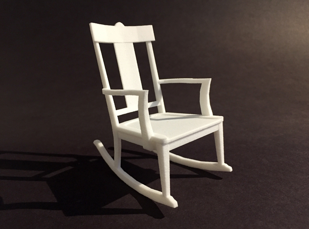St Charles Rocker 1-12 Scale in White Natural Versatile Plastic
