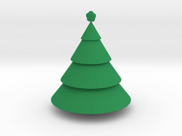 Christmas Tree in Green Strong & Flexible Polished