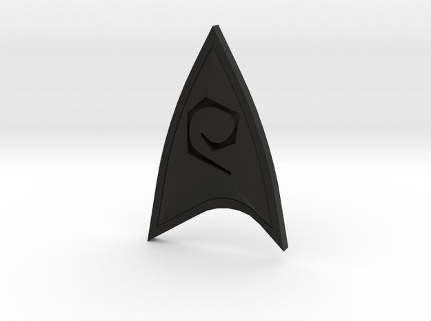 Star Trek Online Operations Combadge in Black Natural Versatile Plastic
