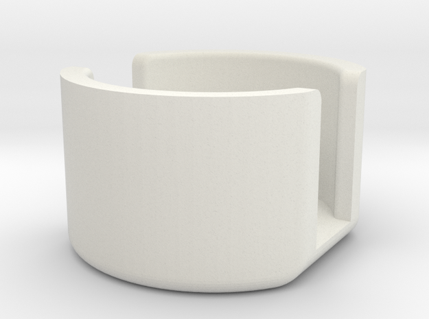 SPRING RETAINER CUP.1 in White Strong & Flexible