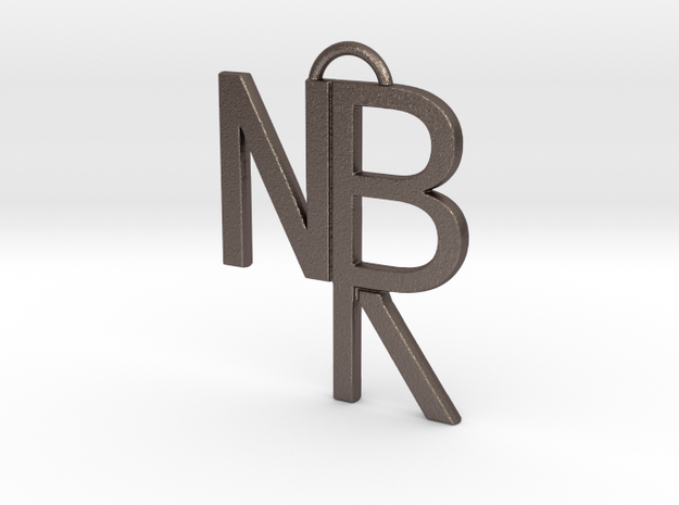 NBR Logo in Polished Bronzed Silver Steel