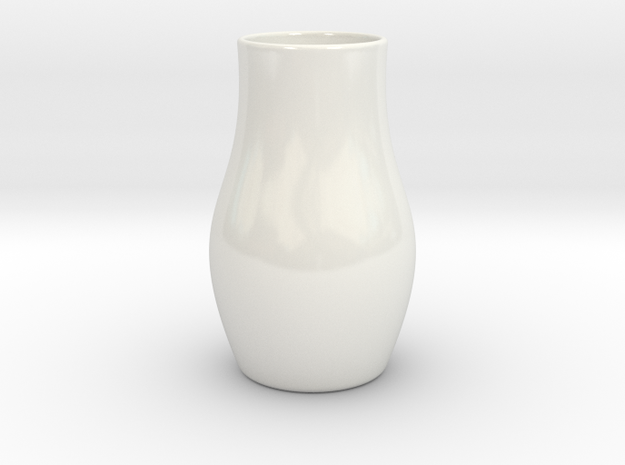 Hydrophora 3 Inch Net Pot (Style 2) in Gloss White Porcelain