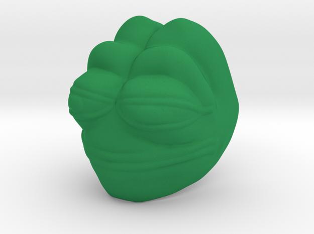Pepmem, mask of terrible decisions in Green Processed Versatile Plastic