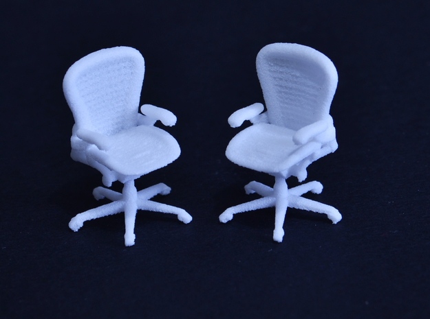 Office Chair 1:50 Scale in White Natural Versatile Plastic: 1:50