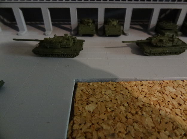 "1/200 South Korean K2 ""Black Panther"" Tank 3d printed Models painted by darkcastle, K21 IFV in the background"