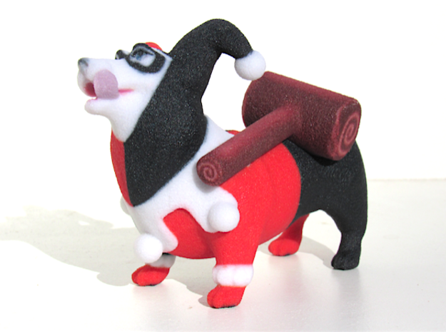 Harley Quinn Corgi  in Full Color Sandstone