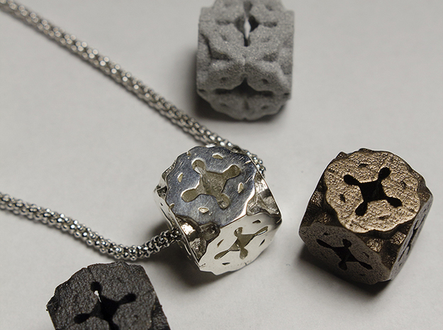 Celtic Cube in White Strong & Flexible