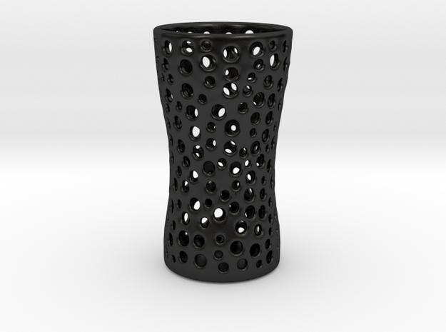 Vase V11 in Matte Black Porcelain: Medium