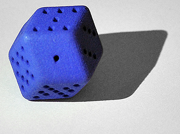 12 sided Dice in Blue Processed Versatile Plastic