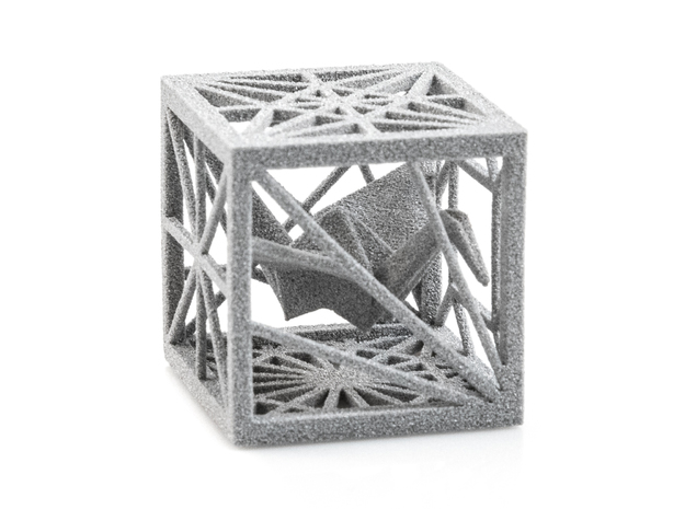 Origami Cubed Bases in White Natural Versatile Plastic