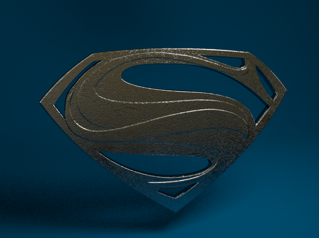 Man Of Steel - Emblem 3d printed
