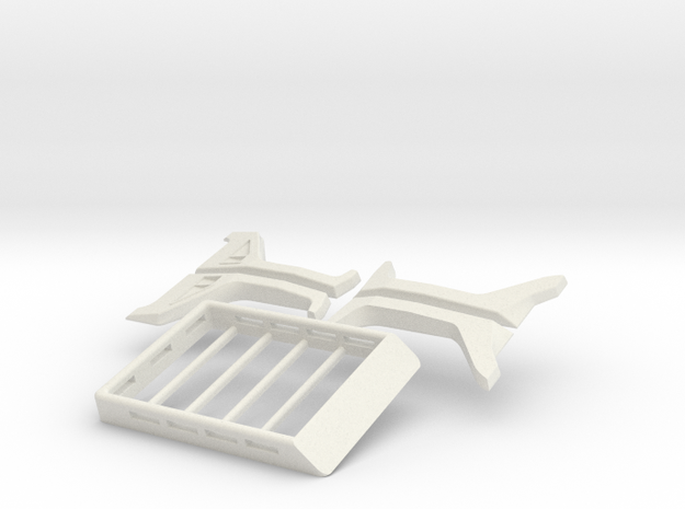 Orlando Hunter Jeep Rubicon Kit with roof rack in White Natural Versatile Plastic