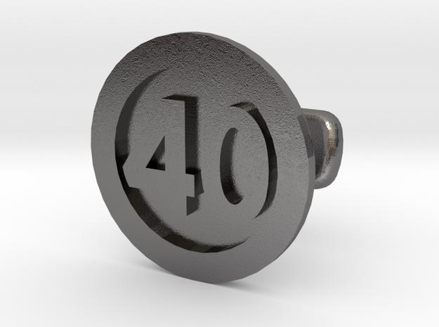 Cufflink 40 in Polished Nickel Steel