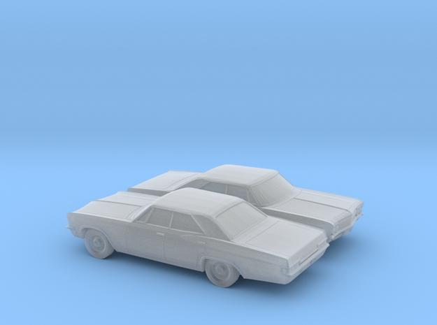 1/160 2X 1966 Chevrolet Impala Sedan in Smooth Fine Detail Plastic