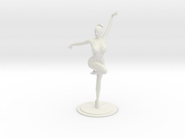 Lowpoly Ballet Girl 20CM in White Natural Versatile Plastic: Large