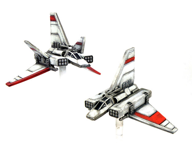 "XG-1 Starwing & ""Scrappy Doom"" pack 1/270 in Smoothest Fine Detail Plastic"