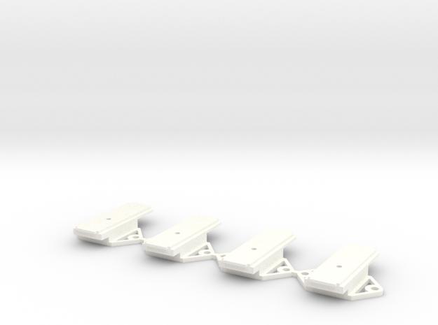 Pecos River Brass O Scale Receiver Cover in White Processed Versatile Plastic