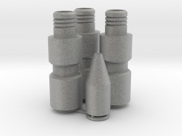Knee Darts Set in Metallic Plastic