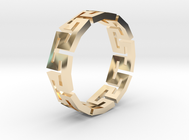 Track Ring in 14k Gold Plated