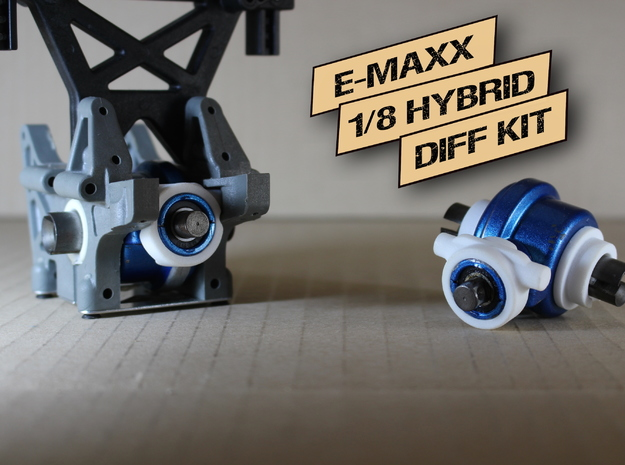 E/T-MAXX 1/8 Hybrid Differentials  KIT (Rear) in White Processed Versatile Plastic