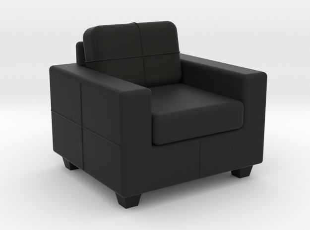 SKOGABY Chair - HO 87:1 Scale in Black Natural Versatile Plastic