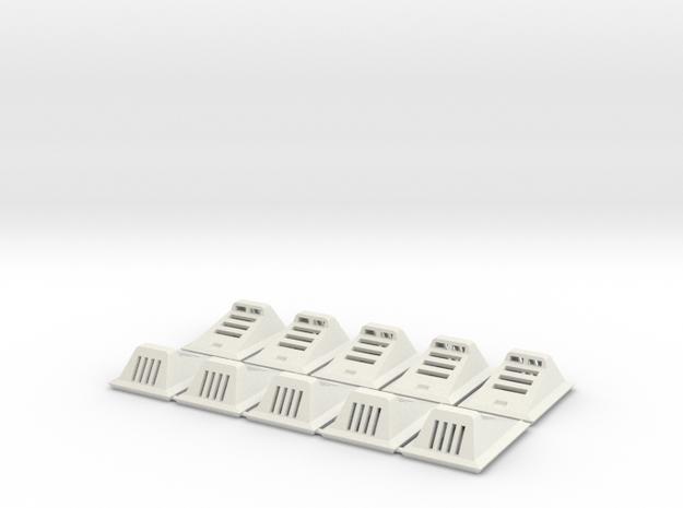Landing Light (Set of 10) in White Natural Versatile Plastic: 1:48 - O