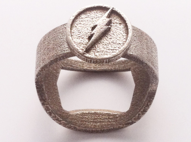 The Flash ring - Bottle Opener band or regular in Stainless Steel