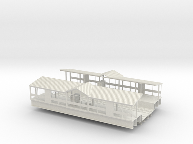 HO Subway / Elevated W Philadelphia Station middle in White Natural Versatile Plastic