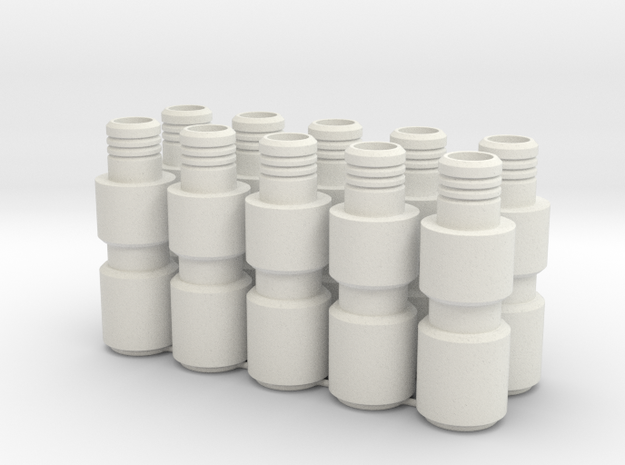 Knee Darts 10 for JK in White Natural Versatile Plastic