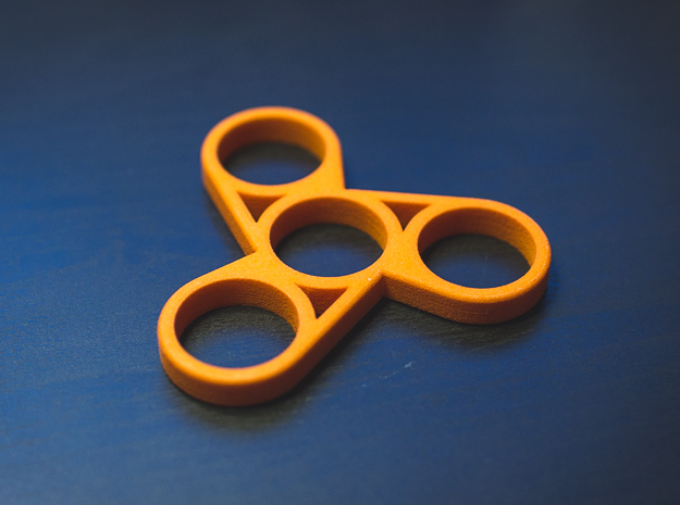The Askew - Fidget Spinner in Orange Strong & Flexible Polished