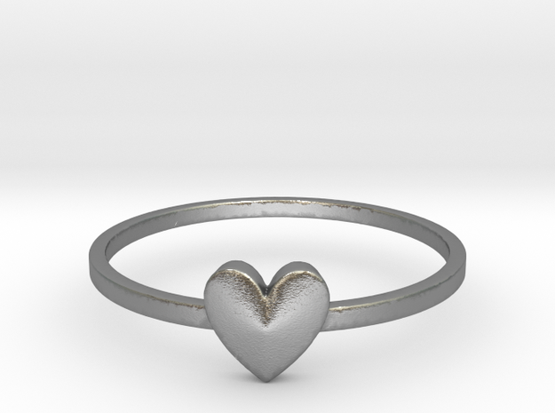 Heart Gem (size 4-13) in Natural Silver: 7 / 54