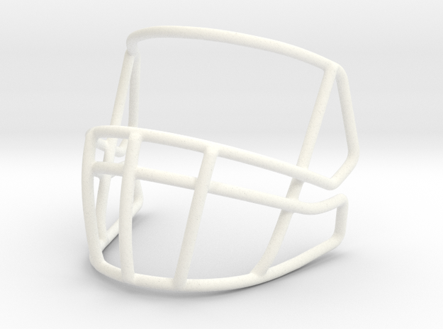 2  CU-S2B-II-SP Russel Wilson Mask in White Strong & Flexible Polished