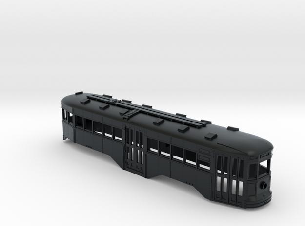 HO B&QT 6000-series Peter Witt Trolley BODY in Black Hi-Def Acrylate