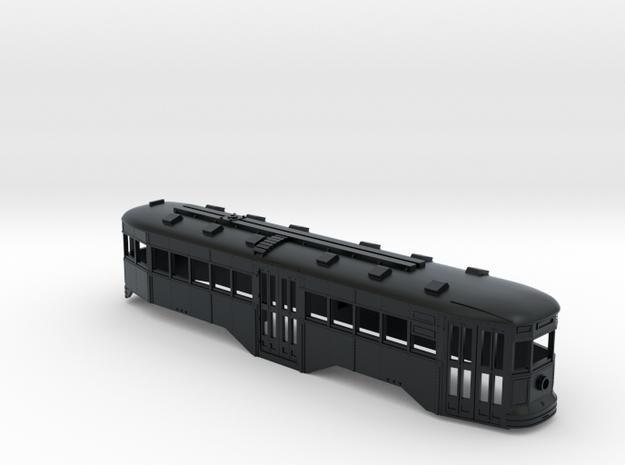 N Scale B&QT 6000 Peter Witt Trolley Body in Black Hi-Def Acrylate
