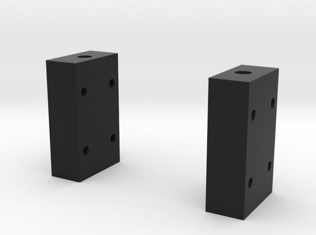 Support Mini Servo in Black Natural Versatile Plastic