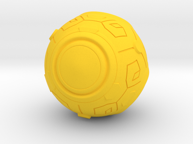 Zenyatta's Ball (Outdated. Go to my shop) in Yellow Strong & Flexible Polished