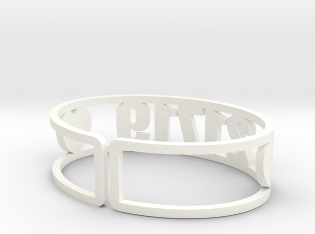 Zip Cuff 21719 in White Processed Versatile Plastic