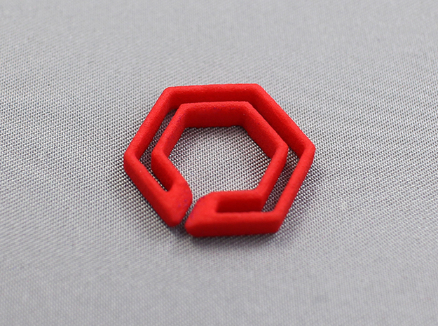 hex chain 3d printed for detail check