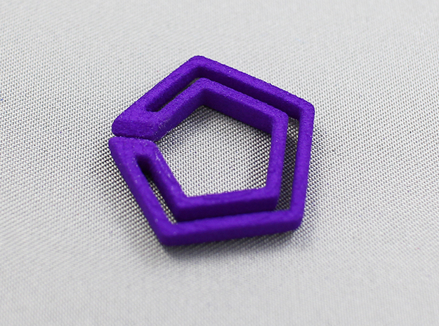 penta chain 3d printed for detail check