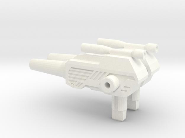 Titans Return: ChromeDome pistol 2.0 in White Processed Versatile Plastic