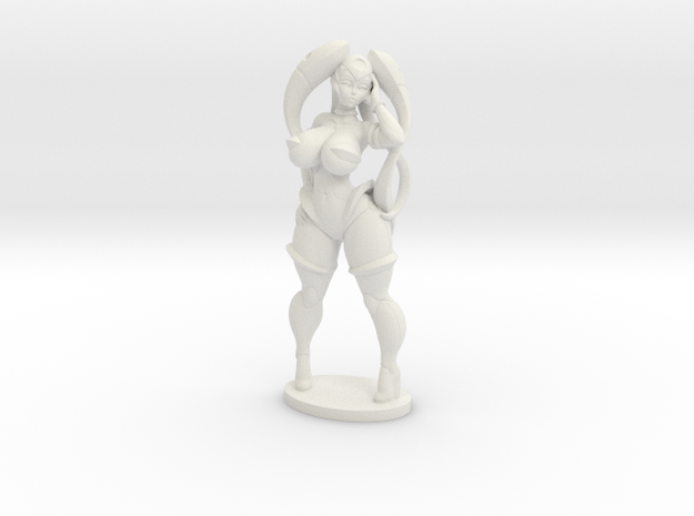 Vermana in Plastic 50mm (About 2 inches tall) in White Natural Versatile Plastic