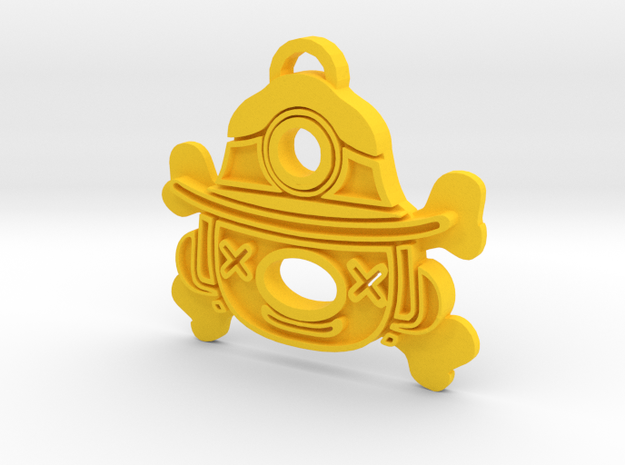 Spelunky Keychain in Yellow Strong & Flexible Polished