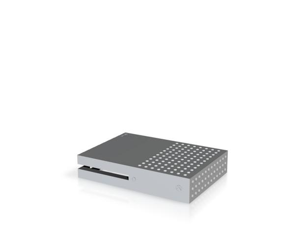 Raspberry Pi Xbox One S Case(Top) in White Natural Versatile Plastic
