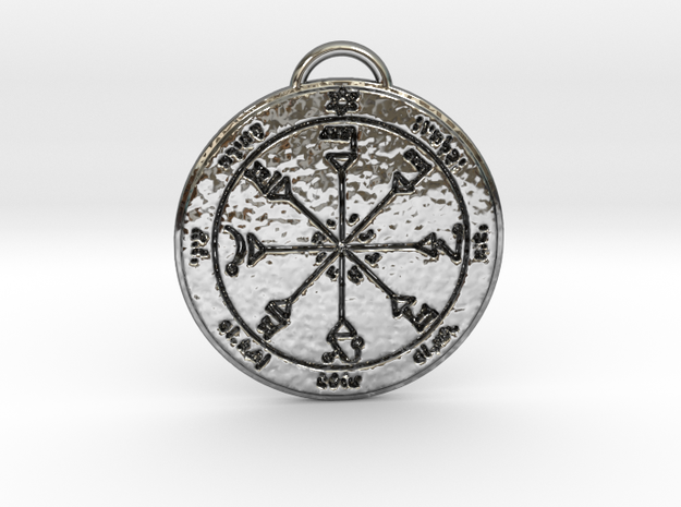 Fourth Pentacle of the Sun in Fine Detail Polished Silver