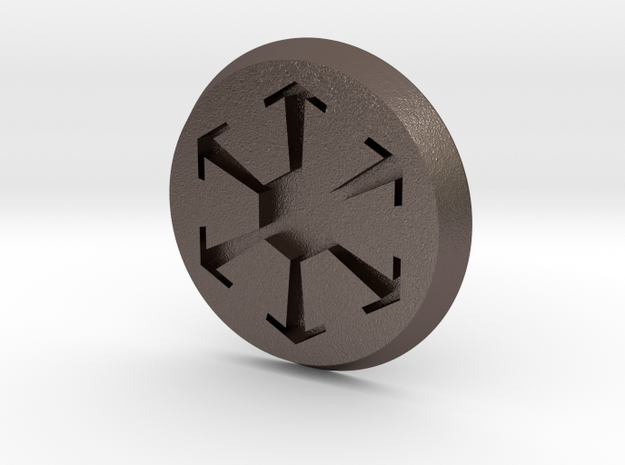 SW Button 2 in Stainless Steel